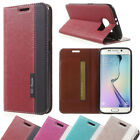 Samsung Galaxy S6 i9600 Handytasche Wallet Book-Style Design Cross Textur Case