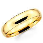 10K Solid Yellow Gold 5mm Comfort Fit Men's and Women's Wedding Band Ring