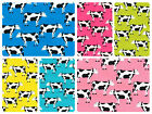 "100% Cotton Poplin Dress Fabric Material - Fresian Cows Dairy - 44"" (112cm) wide"