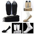 Men Women  No Show Socks 3 6 12 Pairs Loafer Boat Liner Elastic Black White Tan