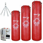 TurnerMAX Heavy Filled Punch Bag Set Chain Boxing Gloves Kickboxing Punching MMA