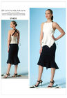 Vogue 1451 DKNY Donna Karan Top Skirt Straps Shaped Hem Sewing Patterns V1451