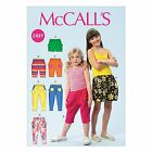 McCalls 6950 Girls EASY Shorts Pants Trousers Sewing Pattern 3-14 Yrs M6950