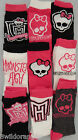 Monster High Socks 3 Pack Size UK 9-12 & 13-2