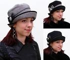 New Ladies Elegant Vintage Style 100% Wool Womens Cloche Bow Bucket Topfhut Hat