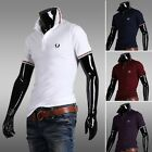 New Fashion Mens Lapel Short Sleeve Polo Shirts Casual Sim Fit T-Shirts 4-Color