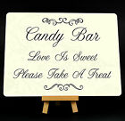 Wedding Candy Bar Metal Plaque Sign