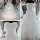 New White Organza Wedding Dress Bridal Gown stock size 6-8-10-12-14-16