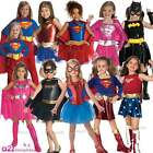 CHILD BATGIRL SPIDER-GIRL SUPERGIRL WONDER WOMAN SUPERHERO FANCY DRESS COSTUME