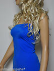 8-10 ROYAL BLUE LYCRA BOOB TUBE TOP STRAPLESS PARTY HOLIDAY BEACH CLUBWEAR W702