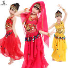New Children's Girls Indian Belly Dance Set Female Kids Suit Costume Stage Dress