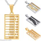 1PC Fashion Men Women Unisex Stainless Steel Abacus Pendant Necklace Jewelry