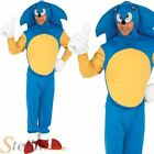 Mens Licensed Sonic The Hedgehog 80s Fancy Dress Costume Outfit