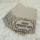 PERSONALISED CANDY SWEET BUFFET TABLE PLACE NAME CARDS BROWN KRAFT RECYCLE PAPER