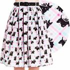 Hell Bunny Scottie Dog 50's Skirt Rockabilly Pin Up Retro Swing Vintage Cute