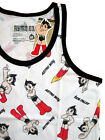 ASTRO BOY Premium Men's T-Shirt-All Over Atom Multi Color Tank-Sleeveless White