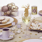 WINTER WONDERLAND Gold Christmas Party Tableware Decorations