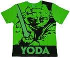 Boy's Official Star Wars YODA Cotton T-Shirt Top Tee Green 8 to 15 Years NEW