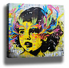 BOGOTA GIRL FACE GRAFFITI STREET ART HIGH QUALITY MODERN CANVAS PRINT WALL DECOR