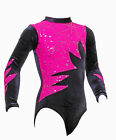 Omega     Girls / Ladies / Gym / Dance /Disco / Gymnastic Leotard   Pink & Black