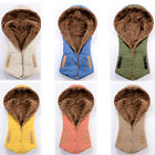 Women Sleeveless Winter Hooded Gilet Fleece Waistcoat Vest Hoodies Coat Jacket