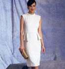 Vogue 1399 Fitted Elegant Peplum Dress Sewing Pattern Spring Summer 2014 V1399