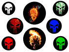 CHOOSE A PUNISHER SKULL LOGO- LOGO PUDDLE LIGHTS FOR CYCLES or AUTO Military SF