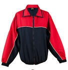 Tombo superb mens team-wear tracksuit top navy/red size M or XXL   (1214)