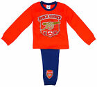 Boy's Official Arsenal FC Junior Gunners Toddler Pyjamas 12 Months - 4 Years NEW