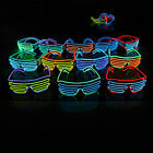 Shutter Shades New Sound Activated Led Flashing Glasses Colorful SunGlasses