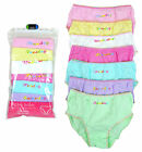 Girls Pack of 7 Days of the Week Print Knickers Pants Underwear 2 - 13 Years NEW