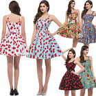 MANY Floral Rockabilly 50s 60's Vintage Retro Cocktail Evening Swing Pinup Dress