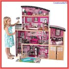 Sparkle Pink Mansion Doll House Furnished Modern Furniture Wood 1 Scale Girls