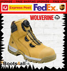 """Wolverine Work Boots Safety Steel Toe Cap BOA Closure System 6"""" Tarmac W81018"""