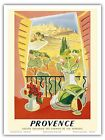 Provence France Better Railway Travel Art Poster Print