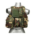 Tactical Molle Vest Military Police Plate Carrier Combat Armor Vest with PouchesChest Rigs & Tactical Vests - 177891