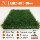 38mm Cheshire - High quality Artificial Grass Fake Lawn Turf - Luxury Edition