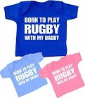 Baby Kids Clothes Boys Girls RUGBY DADDY Sports T-Shirt Tee Tops Shower Gifts