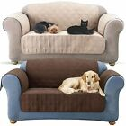 Brown/Beige Luxury Quilted Pet Dog Kid Sofa Chair Protector Furniture Slip Cover