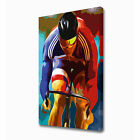 LARGE PURSUIT CYCLIST CANVAS PRINT EZ1109