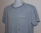Mens Ralph lauren Polo Stripe Pocket T Shirt - Blue / White