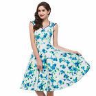 Sexy Womens 1950's Vintage Swing Pin Up Housewife Evening Prom Dress
