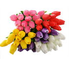 12PCs Mini Tulip Lily Artificial Flower PU Real Touch Home Eco Friendly Love