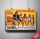JAMES BOND DR NO Poster A3 / A4 Sean Connery Classic Movie Art Print Home Decor £3.49 GBP on eBay