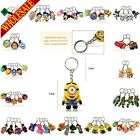 1pcs Despicable Me Minions Cartoon 2D Keychains Key Ring Accessories,Kids Gift