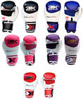 Boxing Gloves Thai Kick Boxing Sparring Pro Leather Grappling MMA UFC Training