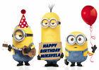 LARGE Minions Despicable Me Party Cake Decoration icing sheet personalised