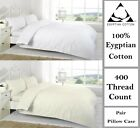 400 Thread Count Duvet Covers W Pillow Cases Quilt Cover 100% Egyptian Cotton