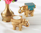 96 Gold Teal Indian Asian Lucky Elephant Bridal Wedding T...