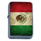 Windproof Refillable Flip Top Oil Lighter Mexico Flag D1 Pride Country Flag